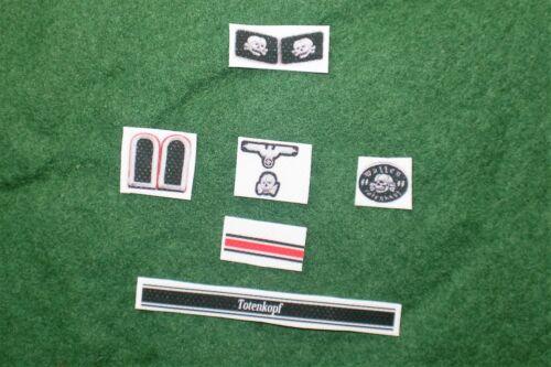1//6 WW2 tedesco Totenkopf INSIGNIA Patch Badge e