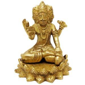 Lord-Brahma-Idol-Brass-Engraved-Handcrafted-Hindu-God-Brahma-Statue-Figurine