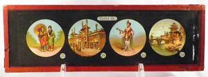 Antique-Glass-Slide-Japanese-Women-Pagodas-Magic-Lantern-Tafel-IX-1880s-AS-IS