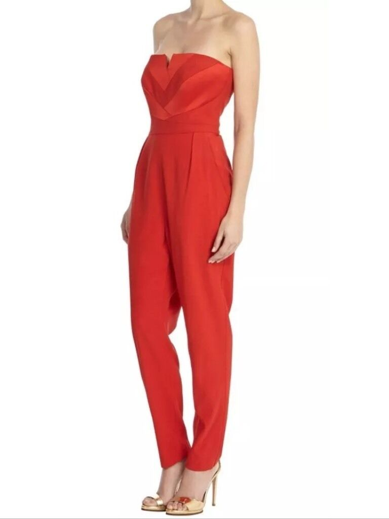 BNWT  ️Coast  ️Size 6 Castana Red Strapless Jumpsuit Playsuit All In One Party