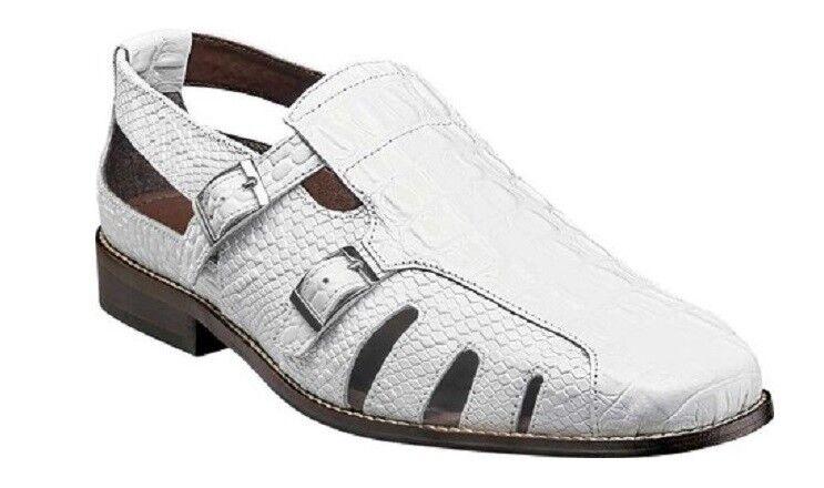 Stacy Adams Seneca Fisherman Sandal bianca Leather Beach  scarpe 25169 -100  prendiamo i clienti come nostro dio