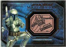 2016 Star Wars Masterworks Medallion Bronze Jango Fett Battle Of Geonosis