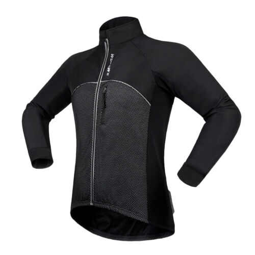 Warm Thermal Fleece Cycling Jacket Bike Jersey Suitable for Night-ridding