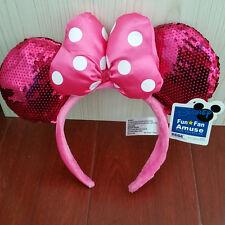 New Disney Parks Minnie Mouse Ears Halloween Headband Christmas Costume Party