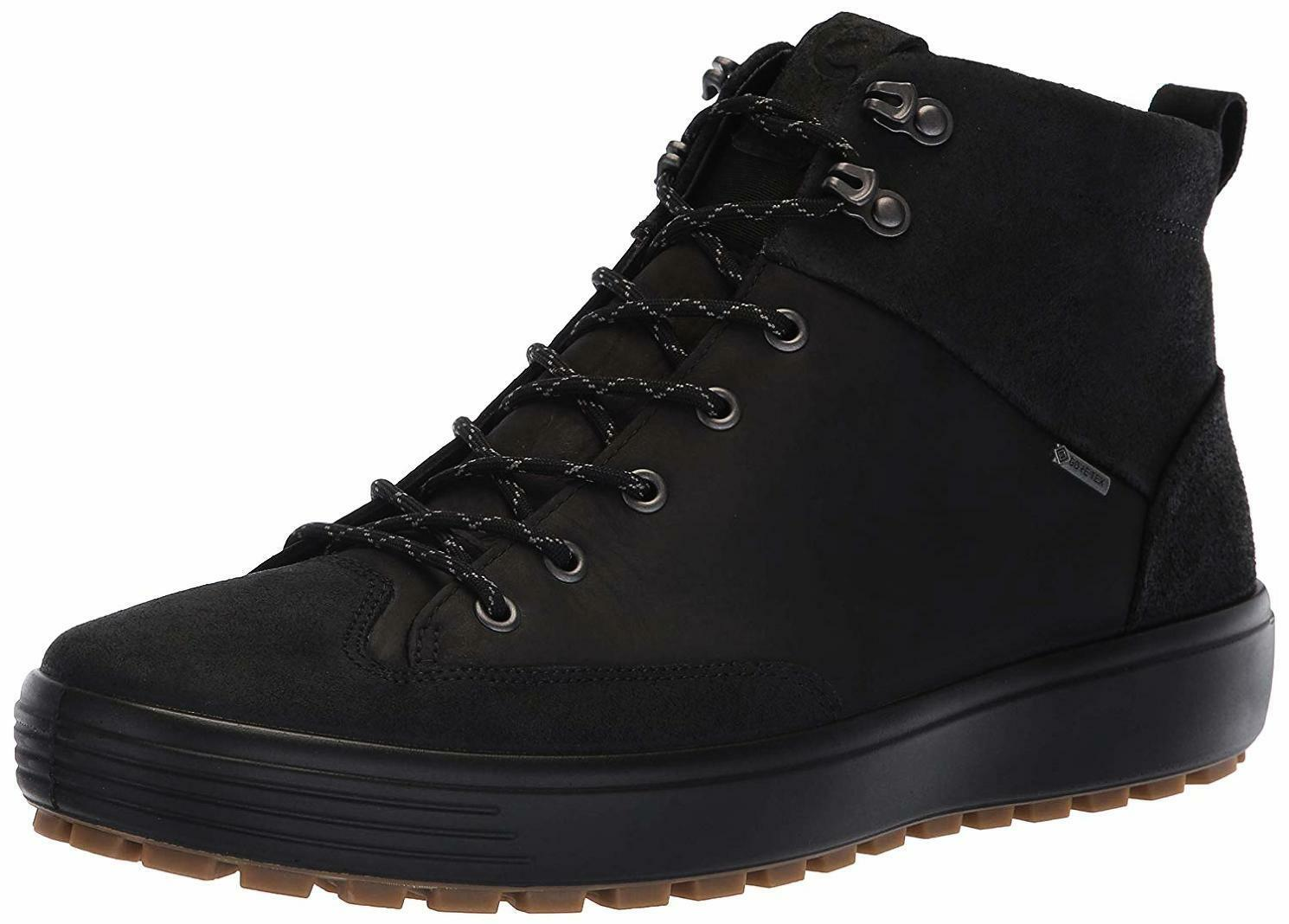 Homme ECCO Soft 7 Trouge High Top Gore-Tex Baskets, - Choisir Taille couleur