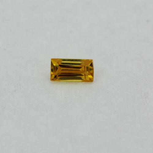 Loose Straight Baguette Citrine CZ Stone Single Yellow Cubic Zirconia Birthstone
