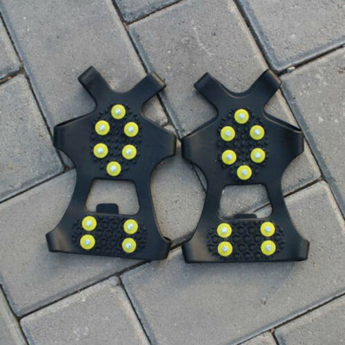 1Pair 10Studs Anti-Skid Ice Gripper Spike Climbing Snow Over Shoes Cover Crampon