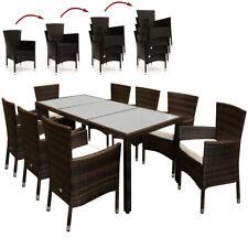 8+1 Polyrattan Sitzgruppe inkl. Auflagen 7cm dick