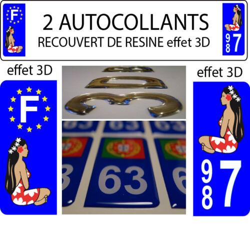 2//STICKERS RECOUVERT DE RESINE TAHITI HINANO PLAQUE IMMATRICULATION DEPART 987