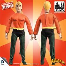 "DC Super Friends Retro mego 8""Figure Series 2  Aquaman  (NEW poly bagged)"