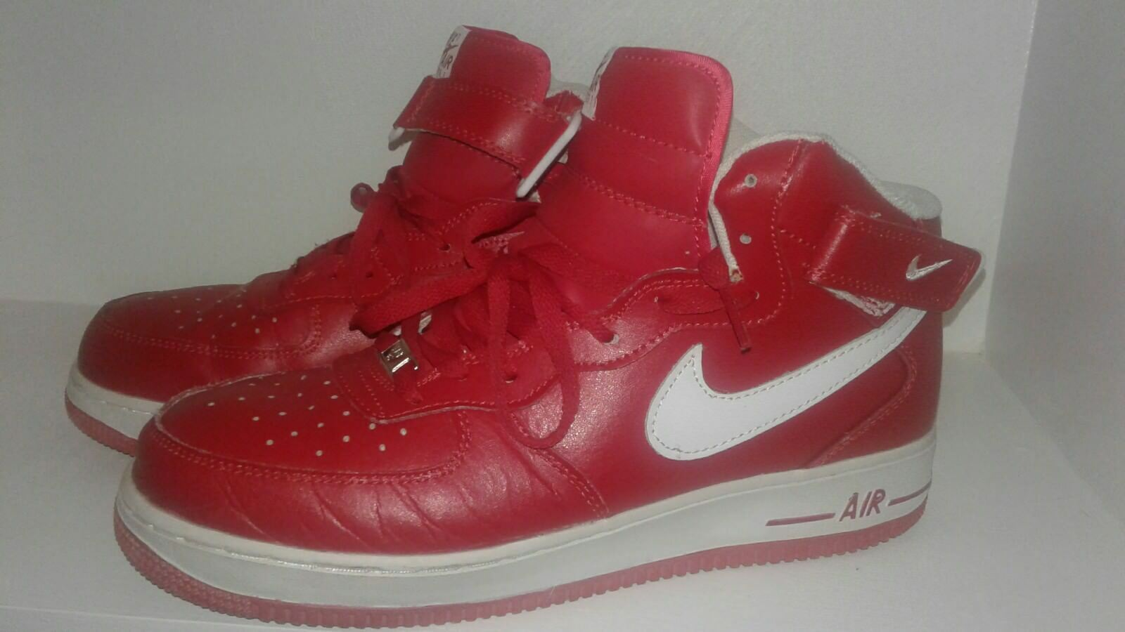Nike Air Force One all Red / White Mid sz 12