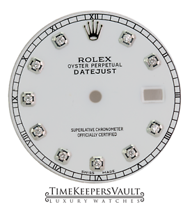 Custom-White-Diamond-Dial-to-Fit-Rolex-Datejust-Stainless-Steel-36mm-Model