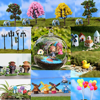 AUUB Garden Ornament Miniature Figurine Resin Craft Plant Fairy Dollhouse Decor