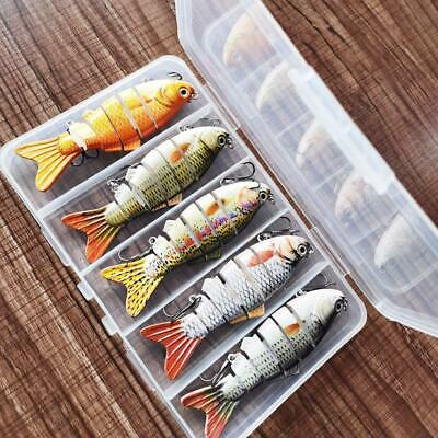 5pcs Bionic Swimming Lure Suitable For All Kinds Of Fish Multi Jointed Bait New