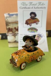 Halloween-Witch-Mouse-Pedal-Pusher-Car-2010-Wee-Forest-Folk-LE-JOL-325-500-Rare