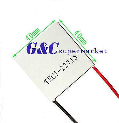 2PCS TEC1-12715 Heatsink Thermoelectric Cooler Cooling Peltier Plate Module M41