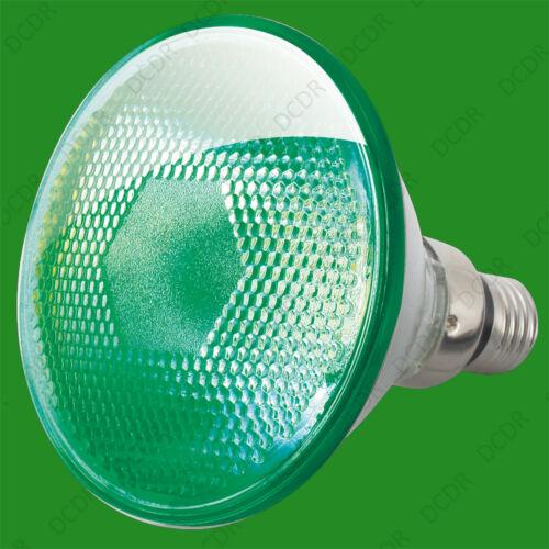 3x 80w Par38 Grün Farbig Halogen Scheinwerfer Reflektor es E27 Glühbirne Lampe
