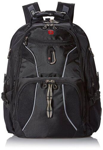 """Swiss Gear ScanSmart Laptop Backpack TSA-Friendly Black Fits 15/"""" Laptop Tablet"""