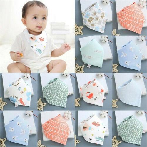 Infant Baby Boy Girl Cotton Bandana Bibs Feed Saliva Towel Dribble Triangle