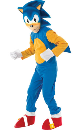 Child SONIC THE HEDGEHOG Fancy Dress Costume Video Game Sega Retro Book Week Kid