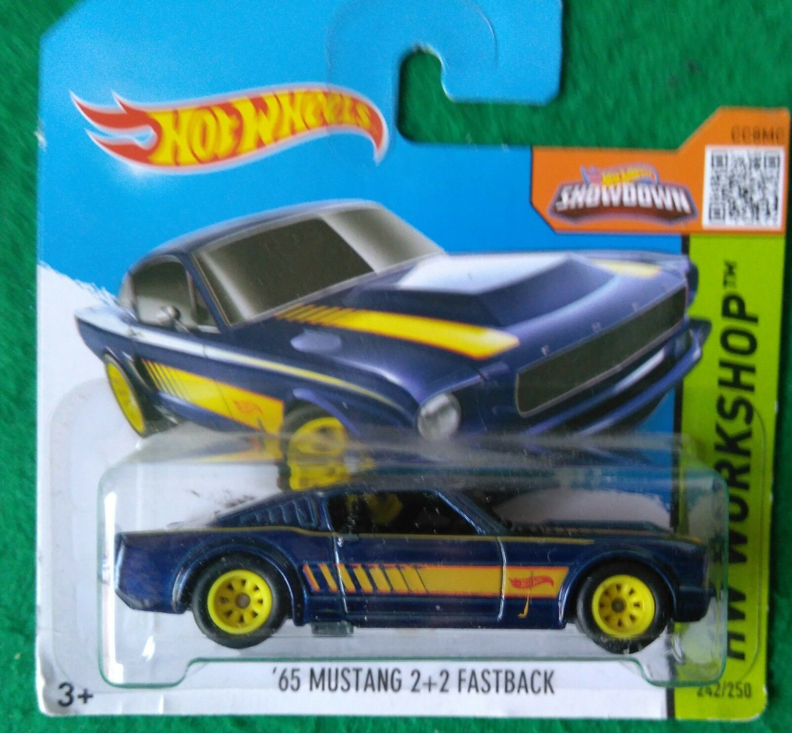 HOT WHEELS 2015 SUPER TREASURE HUNT 65 MUSTANG MACH UE shortcard T HUNT RR