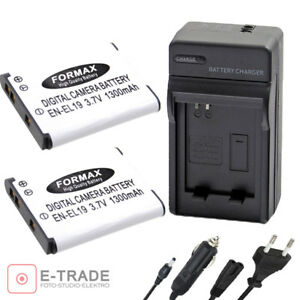 2x-EN-EL19-Battery-CHARGER-for-Nikon-Coolpix-S2500-S2600-S3100-S3200-S3300