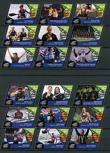 New-Zealand-2016-MNH-Rio-Olympics-Medal-Winners-Sailing-Rowing-18v-Set-Stamps