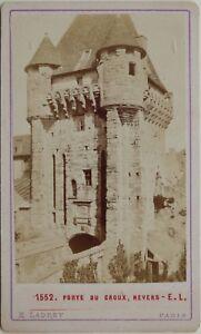 Porta Del Croux Nevers Francia Carte de visite CDV Foto Vintage Albumina