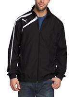 Mens New PUMA Spirit Woven Jacket Tracksuit Top Jumper Coat - Black