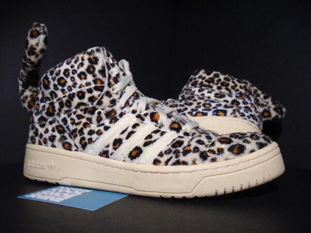 Adidas js leopard jeremy scott flügel 2012 tragen beige schwarzen sand Braun v24536 11.