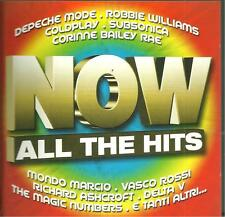 cd C8 VARIOUS ALL THE HITS NOW ( Depeche mode Robbie williams Coldplay Vasco Ros