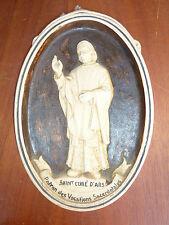Ancien cadre et sculpture en plâtre, Ars, objet religieux, religion chrétienne
