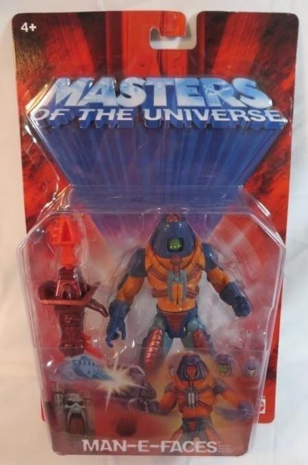 2002 He Man Masters of the Universe Man E Faces Chase variant Figure NRFP Mattel