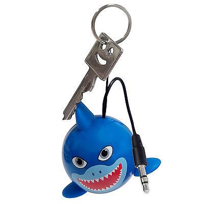 Kitsound Mini Buddy Portable Speaker Shark / Hai Ksnmbshk, Blau