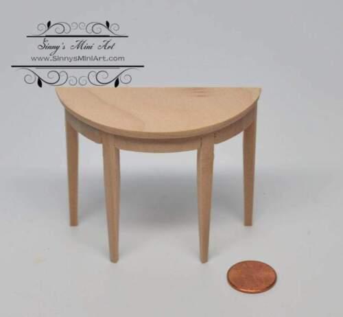 1:12 Dollhouse Unfinished Miniature Side Table// Miniature Furniture AZ CL10940
