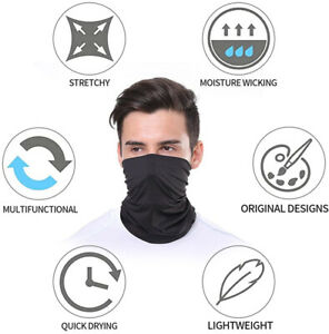 Aigmal 2PCS Bandanas Face Shield Lightweight Sun Protection Neck Gaiter Balaclava Mask for Dust Outdoor Men/&Women