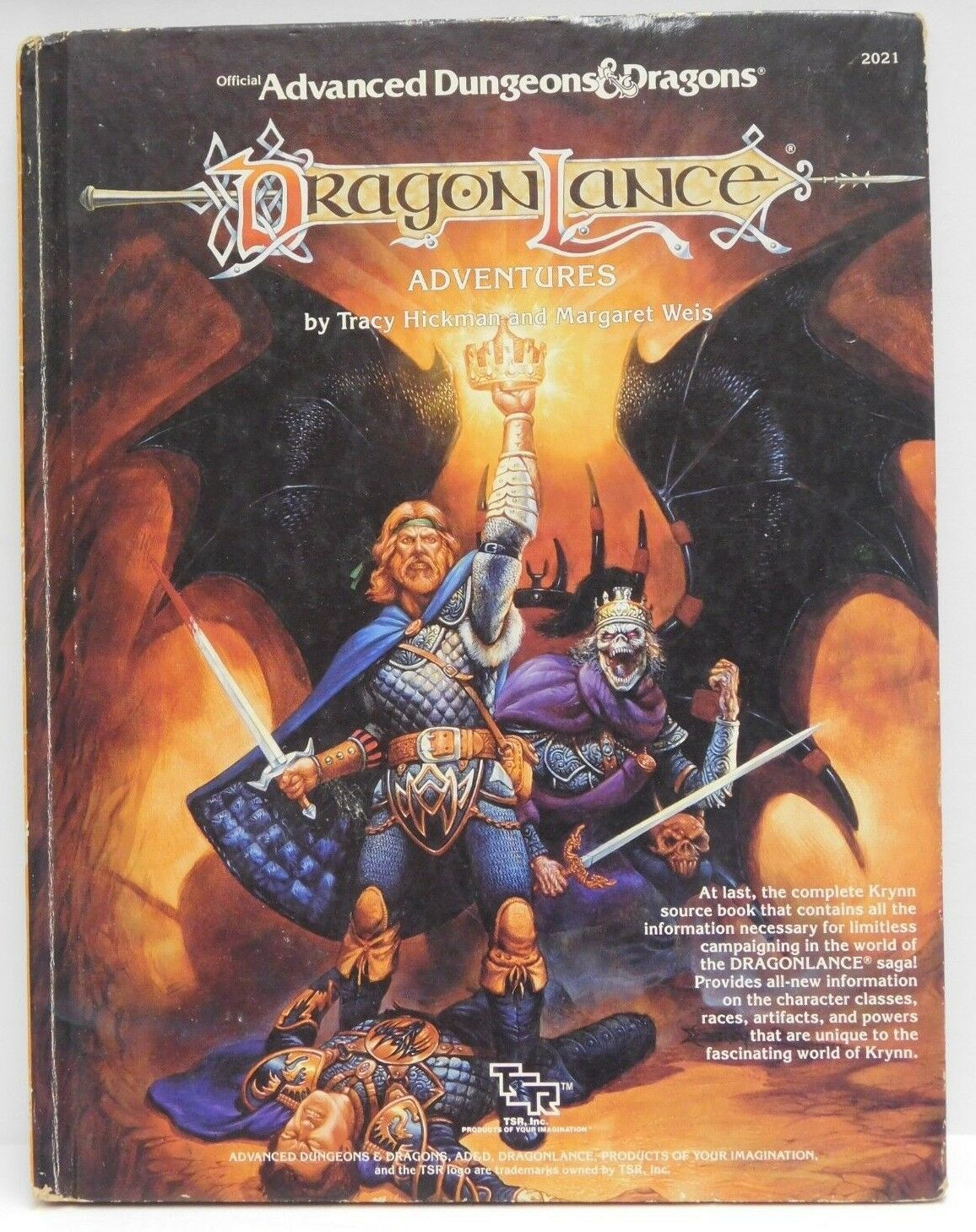 Ad&d 1987 Dragonlance Adventures 1st Printing TSR 2021 Dungeons and Dragons  NM   eBay