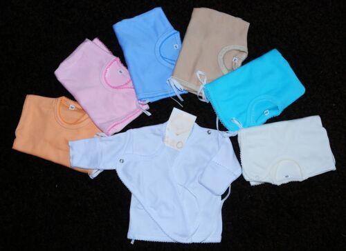 Baby Wickelshirt Hemdchen 50 56 62 68  Erstlingsshirt Flügelhemd Shirt Hemd Weiß