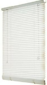 "Mini Blind,1"" White Light Filtering Vinyl, 19"" x 72"""