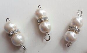 LadiesGirlWomen ShirtKameezKurta Set of 3 Pearl amp Diamante Silver Buttons - London, United Kingdom - LadiesGirlWomen ShirtKameezKurta Set of 3 Pearl amp Diamante Silver Buttons - London, United Kingdom