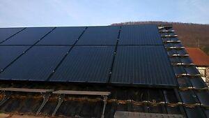Heimwerker Solarenergie Pv Montagesystem Ziegeldach Für Schwarze Module Jedes Modulmaß Neu Kabelkanal