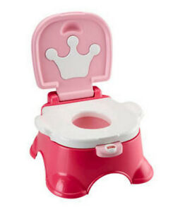 Etonnant Fisher Price Pink Princess 2in1 Baby Potty Training And Stepstool