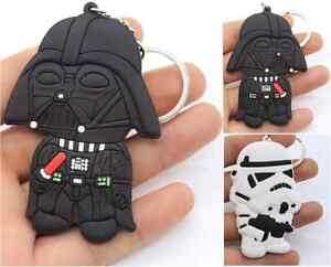Star-Wars-Chibi-Double-Sided-Rubber-Silicone-Keyring-Darth-Vader-Storm-Trooper