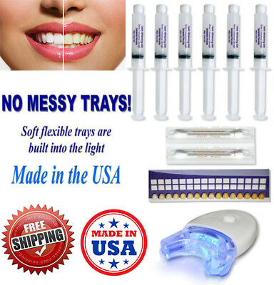 Teeth Whitening 44 Peroxide 3d White Dental Gel Kit Laser Led Uv