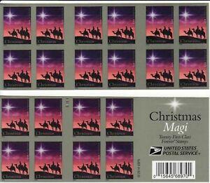CHRISTMAS MAGI STAMP BOOKLET -- USA #4945a FOREVER 2014 CHRISTMAS