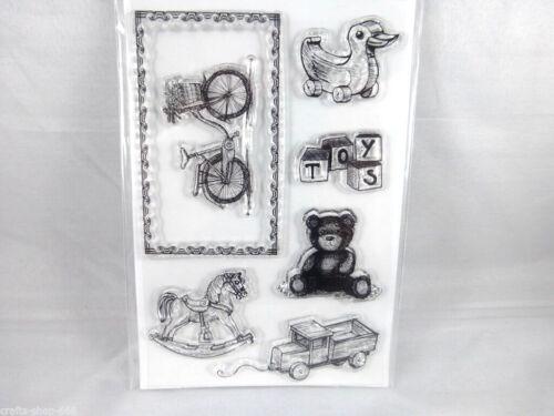 Motivstempel  Stempel Spielzeug  Clear Stempel ca:15 x 10 cm Kartengestaltung