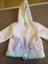 Le ragazze in pelle scamosciata cappotto COCCINELLA 12-18 mesi