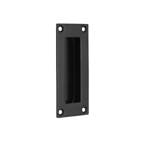 Rectangular Flush Pocket Door Handle 102MM X 45MM Matte Black