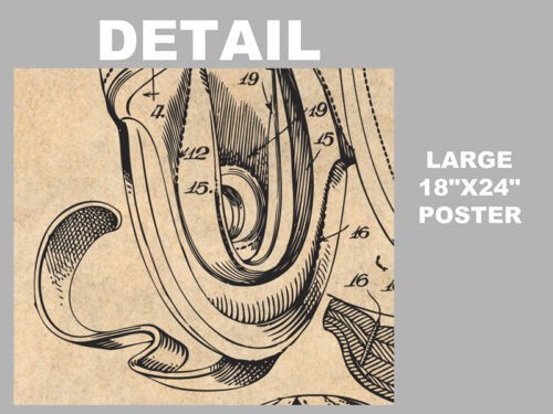 1927 Football Helmet Patent Print Art Drawing Poster 18X24
