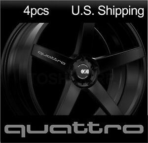 4 Quattro Stickers Decals Wheels Rims Door Handle Mirror Audi Sport